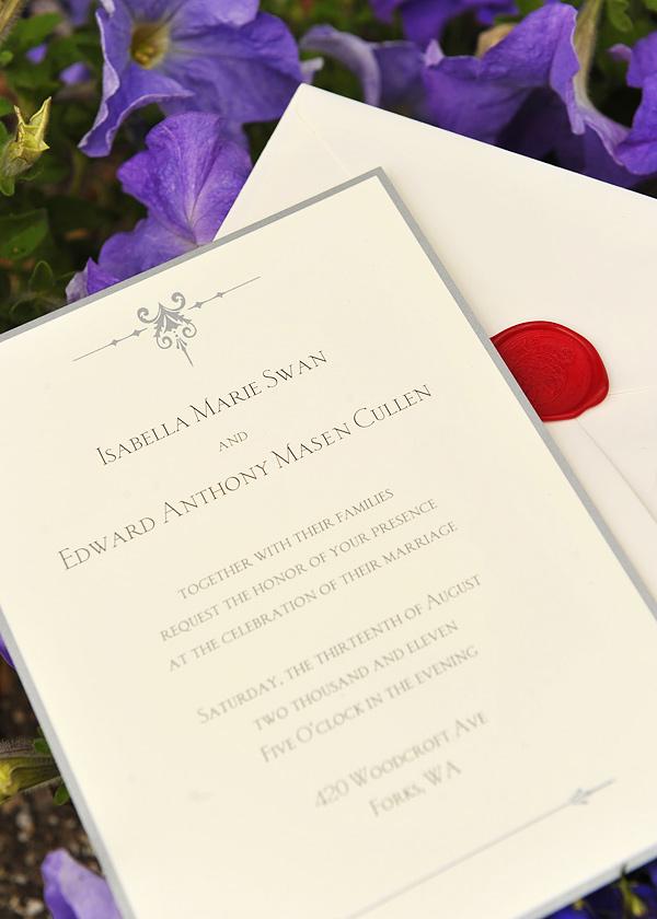 Bella And Edward\'s \'Breaking Dawn\' Wedding Invitation: What Do ...